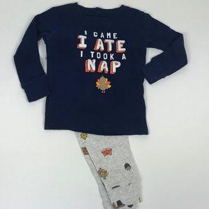 2-Piece Thanksgiving Snug Fit Cotton PJs